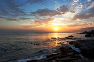 A Sunset on the Beach