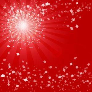 Red party confetti