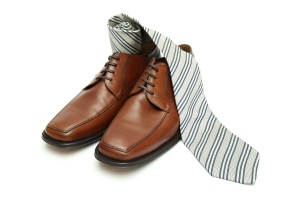 Dress shoes and a tie