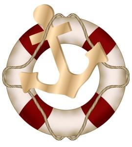 An anchor and lifesaver