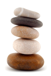 A balanced stack of stones