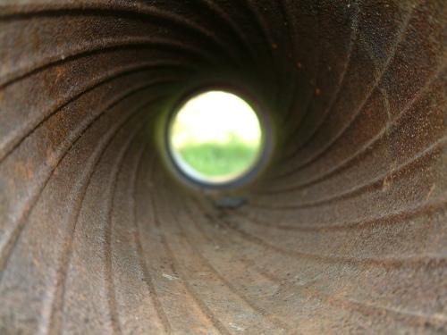 Staring down a gun barrel