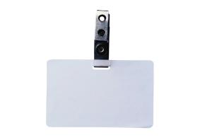A blank identity card