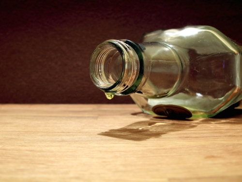 The last drop of alcohol