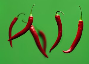 dancing chili peppers