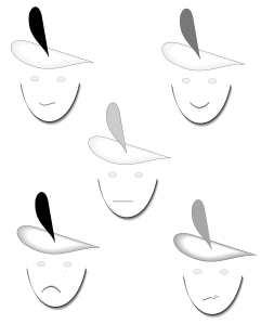 various emotional expressions