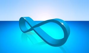 blue infinity symbol