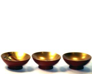 24k gold sake cups