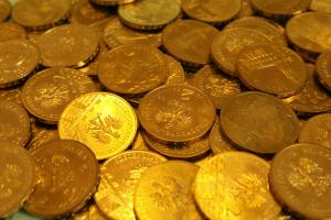 many gold coins
